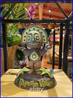 Disney Polynesian Village Tiki Totem Statue Figure Orange Bird Trader In Hand