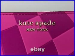Kate Spade Cheshire Cat Alice In Wonderland Pink Zip Wallet Disney Parks