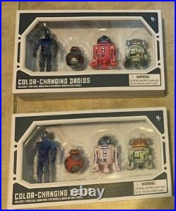 LOT Star Wars Color Changing Droid Factory 4 Pack x2 = 8 NEW Disney Park Excl