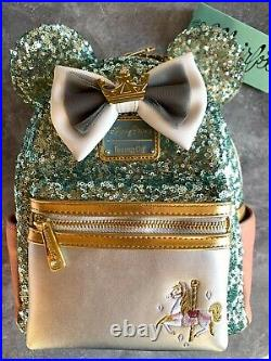 LOUNGEFLY Disney Parks EXCL NWT MMMA King Arthur Carousel Backpack