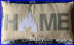 Large Disney Parks Home Throw Pillow Cinderella Castle Mickey Mouse NWT