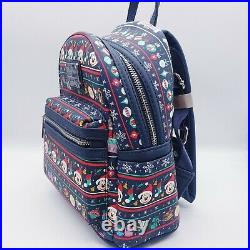 Loungefly Disney Parks Christmas Holiday Attractions Mickey Mouse Mini Backpack