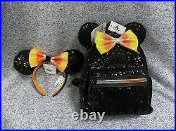 Loungefly Disney Parks Exclusive Candy Corn Halloween Mini Backpack & Ears Set