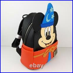 Loungefly Disney Parks Fantasia Sorcerer Mickey Mouse Figural Mini Backpack