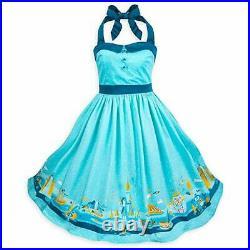 NEW Disney Parks Dress Shop Aqua Blue Magic Kingdom Attractions Women's Dress 3X