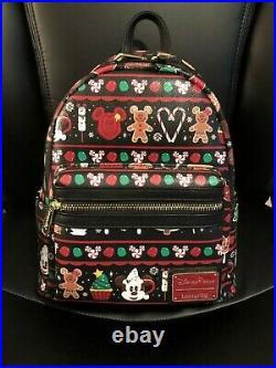 NWT 2019 Disney Parks Christmas Holidays Treats Snacks Loungefly Backpack