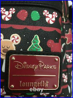 NWT 2019 Disney Parks Loungefly Holiday Christmas Snacks Food Icons Backpack