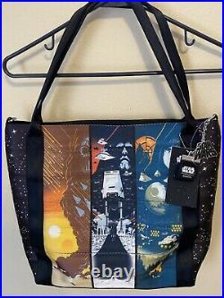 NWT Disney Parks Harveys Seatbelt Star Wars Trilogy Poster Tote Bag