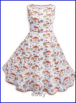 NWT Disney Parks The Dress Shop Main Street U. S. A Womens 2 Piece Dress & Sweater