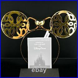 New Disney Parks Designer Alex and Ani Shiny Gold Minnie Mouse Ear Headband