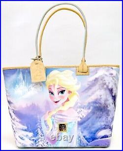 New Disney Parks Dooney & Bourke Frozen Anna & Elsa Large Shopper Tote Purse