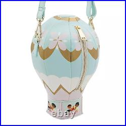 New Disney Parks Dress Shop Loungefly Small World Hot Air Balloon Crossbody Bag
