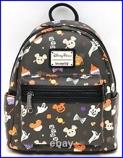 New Disney Parks Loungefly 2020 Halloween Candy Treats Mini Backpack Purse P