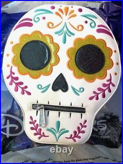New Disney Parks Loungefly Coco Dia De Los Muertos Sugar Skull Mini Backpack
