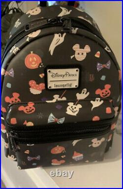 New Disney Parks Loungefly Mickey Mouse Halloween Treats Mini Backpack 2020