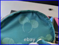 New Disney Parks Loungefly Minnie Mouse Ear Headband Print Earholder Backpack