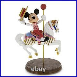 New Disney Parks Mickey Mouse & Jingles Carousel Horse Medium Big Fig Figure
