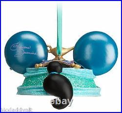 New Disney Parks Princess Jasmine Aladdin Mickey Ear Hat Christmas Ornament