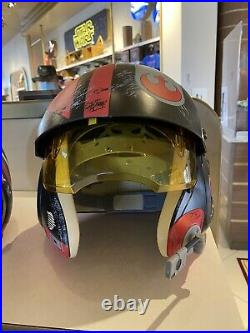 New Disney Parks Star Wars Galaxy's Edge Black Poe X-Wing Pilot Helmet WithSounds