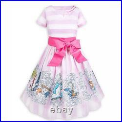 New Disney Parks The Dress Shop The Aristocats Women's Pink Striped Dress XS-3X