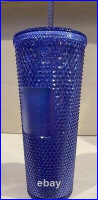 Walt Disney World 50th Anniversary Starbucks Tumbler Cup Mug New Sparkle Blue